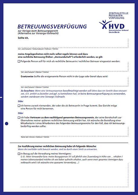 Vollmachten Humanistischer Regionalverband Potsdampotsdam